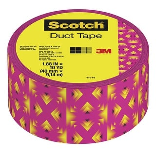 Scotch Duct Tape, 1.88 Inches x 10 Yards, Pink Yellow Tribal