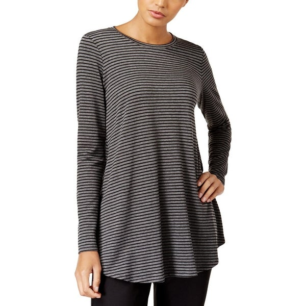 476933615bcfd Shop Eileen Fisher Womens Petites Tunic Top Striped Long Sleeve - pm ...