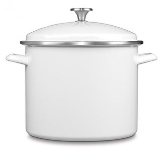 Cuisinart 3-Pc 12 Qt Stockpot Steam Set - White 3-Pc 12 Qt Stockpot Steam Set
