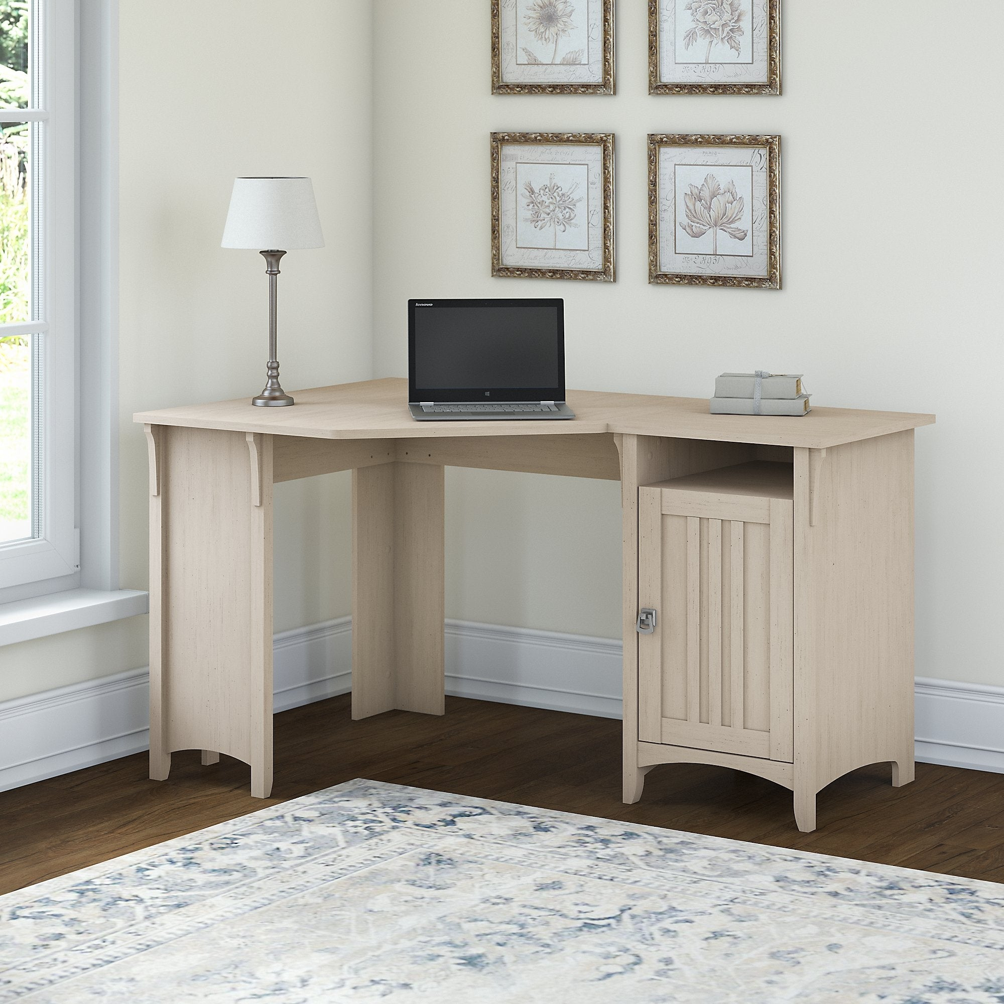 The Gray Barn Lowbridge Corner Desk with Storage