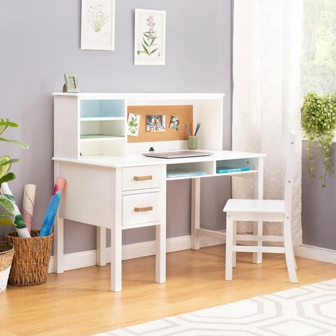 Guidecraft Kid's Taiga Desk and Hutch with Chair