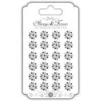 14Mm Flower Clusters W/Rhinestones - Always & Forever Adhesive Pearls