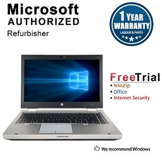 "Refurbished HP EliteBook 8460P 14"" Laptop Intel Core i5-2520M 2.5G 12G DDR3 500G DVD Win 7 Pro 64-bit 1 Year Warranty - Silver"