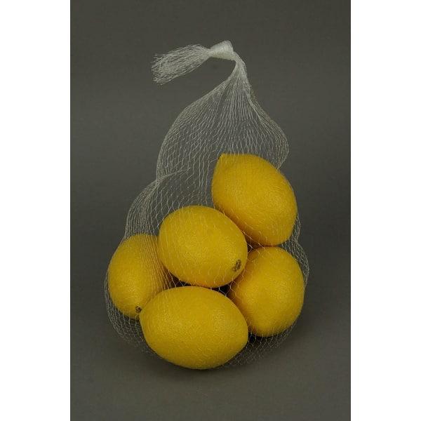 Shop Fake Yellow Lemons Kitchen Decor 6 Piece Artificial ...