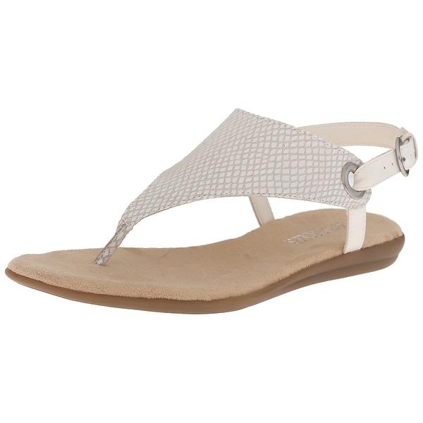 e2ebe186933f Aerosoles Womens Conchlusion Leather Open Toe Casual Ankle Strap Sandals