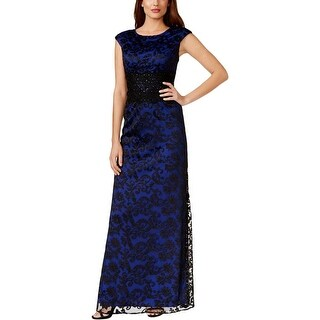 Alex Evenings Womens Petites Evening Dress Embroidered Lace