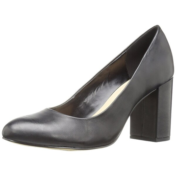 Bella Vita Women's Nara Dress Pump, Black Leather, Size 8.5