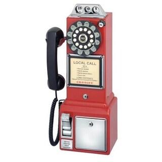 Crosley CR56-RE Crosley 1950 s Classic Pay Phone - Red
