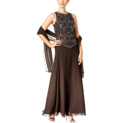 JKara Womens Evening Dress Embellished Sleeveless