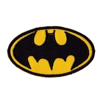 BATMAN BAT SIGNAL LOGO Embroidered Iron On Motorcycle Biker Vest Patch P74