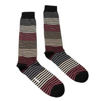 Missoni GM00CMU5233 0002 Black/Cream Striped Knee Length Socks - M