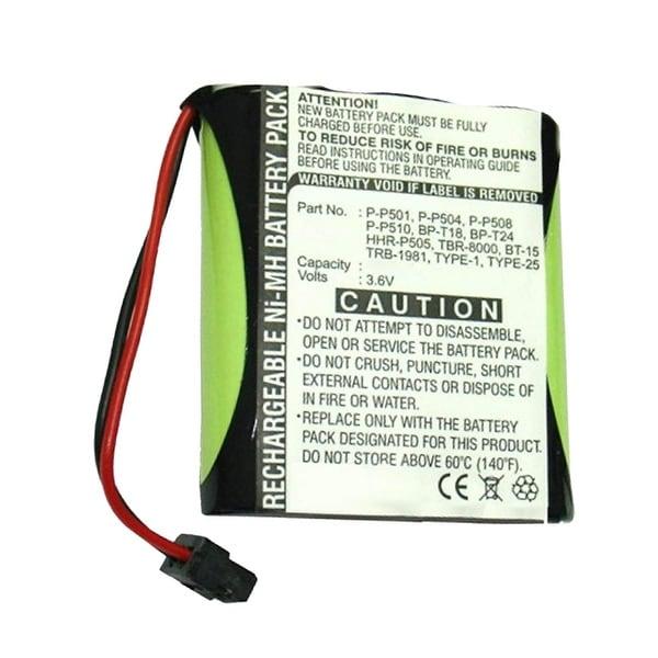 Replacement For Panasonic P-510 Cordless Phone Battery (700mAh, 3.6v, NiMH)