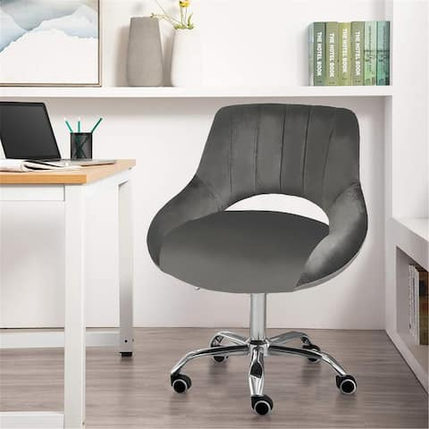 Office Chair Leather Computer Chair Height Adjustable Home Stool