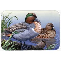 Carolines Treasures PTW2057LCB Green Teal Ducks In The Water Glass Cutting Board, Large