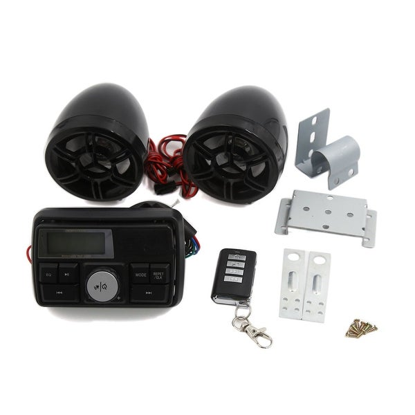 Motorcycle Handlebar Audio System USB SD Radio Speaker MP3 Player Remote Control
