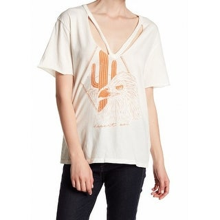 The Project Social T NEW Beige Womens Size Medium M Graphic Tee T-Shirt