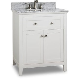 "Jeffrey Alexander VAN105-30-T Chatham Shaker 30"" Vanity Set with Wood Cabinet"