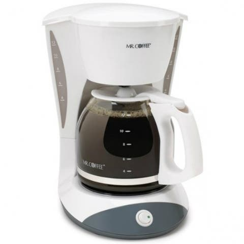 Mr. Coffee DW12-NP Simple Brew Switch Coffee Maker, 12-Cup, White