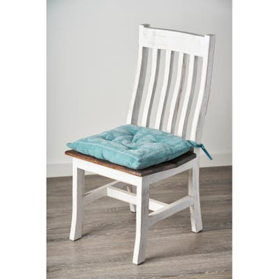 Bordered Paisley Chair Cushion
