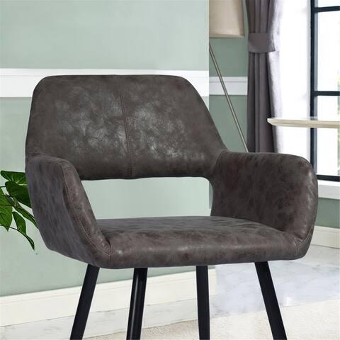 "Celipu 22"" Crowell Brown Arm Chair"