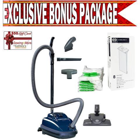 Sebo 9679AM K2 Kombi Dark Blue Canister Vacuum w/ Exclusive Bonus Package!