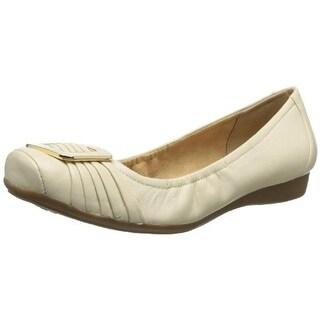 Naturalizer Womens Vapor Leather Square Toe Ballet Flats - 5 medium (b,m)