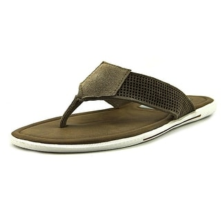 Kenneth Cole NY Final Word Men  Open Toe Leather Tan Thong Sandal
