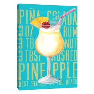 """PTM Images 9-105726  PTM Canvas Collection 10"""" x 8"""" - """"Pina Colada (Vertical)"""" Giclee Liquor & Cocktails Art Print on Canvas"""