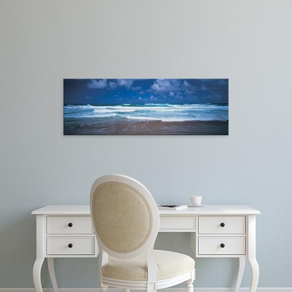 Easy Art Prints Panoramic Images's 'Surf on the beach, Barbados, West Indies' Premium Canvas Art