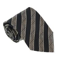 Missoni U5128 Black  Awning 100% Silk Tie - 60-3