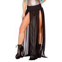 Long Sheer Skirt, Sheer Dance Skirt - One Size Fits Most