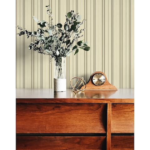 Seabrook Designs Wayne Stripe Unpasted Wallpaper