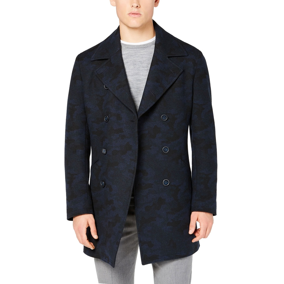 DKNY Mens Slim Fit Long Bomber Jacket
