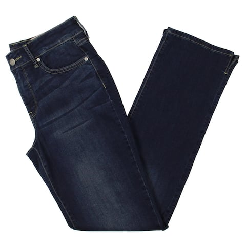NYDJ Womens Marilyn Straight Leg Jeans Denim Cool Embrace - Junipero
