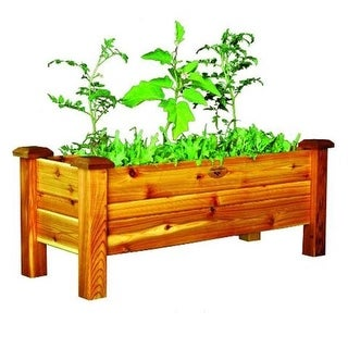 Gronomics PB 18-48S Safe Finish Red Cedar Planter Box 18 x 48 x 19 in.