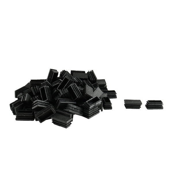 105pcs 20 x 40mm Plastic Rectangle Ribbed Tube Inserts End Cover Cap Furniture Chair Table Feet Floor Protector