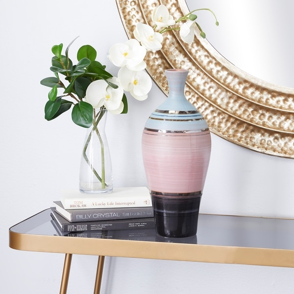 Pink Ceramic Contemporary Vase 15 x 6 x 6 - 6 x 6 x 15. Opens flyout.