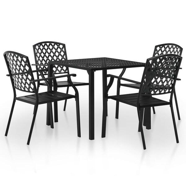 Shop VidaXL Outdoor Dining Set 5 Pieces Mesh Metal