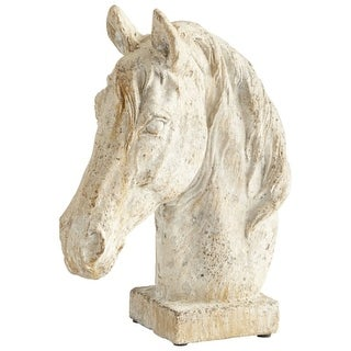 "Cyan Design 8682 Majestic Mane 11"" Tall Cement Horse-Head Sculpture"