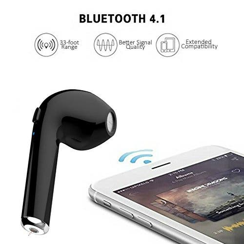 Shop Indigi Universal Wireless Stereo Bluetooth 4 2 In Ear Headphone Earbuds Mic Charging Case Included Black Free Shipping On Orders Over 45 Overstock 19812923