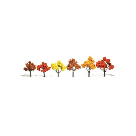 Woodland scenics wstr1577 3 -5 ready made tree value pack fall colors