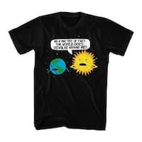 Humor World Revolves Men's Black Funny T-shirt