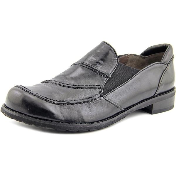 Spring Step Valentin Women  Round Toe Leather Black Loafer