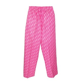 Boxercraft Women's Flannel Breast Cancer Awareness Ribbon Pajama Pants - Pink