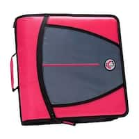 Case It 1580684 3 in. Case-it Mighty Zip Tab O-Ring Binder, Pink