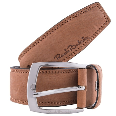 Renato Balestra A058/40 Suede Leather Mens Belt