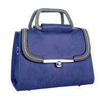 Mad Style Blue Bria Top Handle Tote