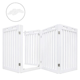 Arf Pets Freestanding Dog Gate with Walk Through Door