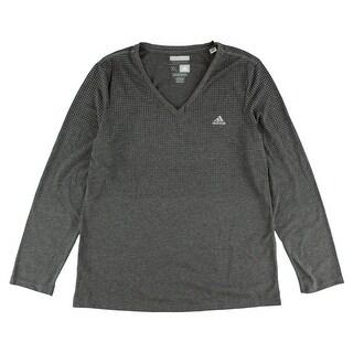 Adidas Womens Aeroknit Long Sleeve Climacool Top Dark Grey - Dark Grey/Black - S