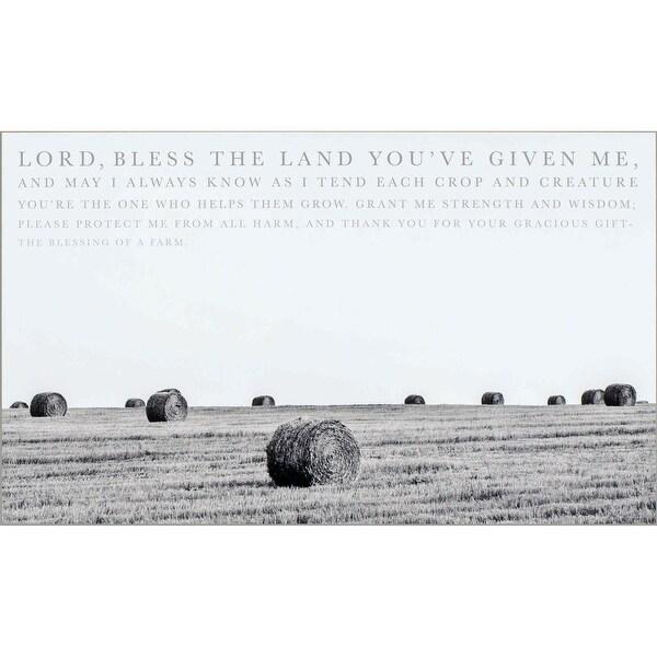 "20"" White and Black Farmer's Prayer Themed Rectangular Wall Plaque - N/A"